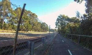 Nice bike path, away from cars