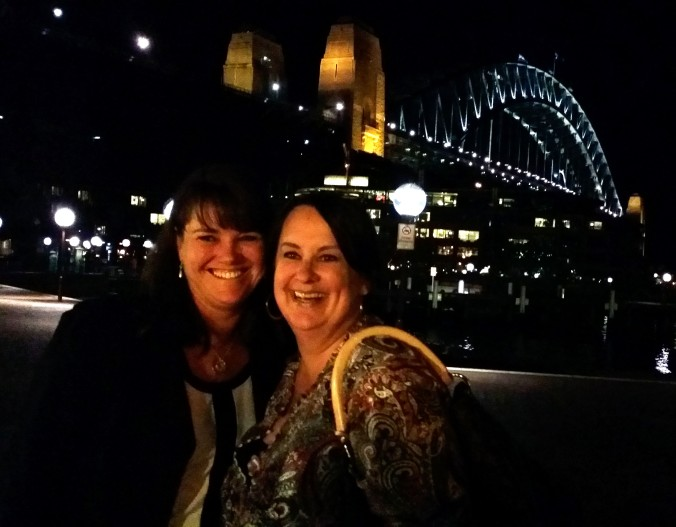 Dinner in the Shadow of the Harbour Bridge