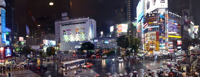 "This is Shibuya's ""Scramble Crossing.""  A lot like Times Square in New York!"